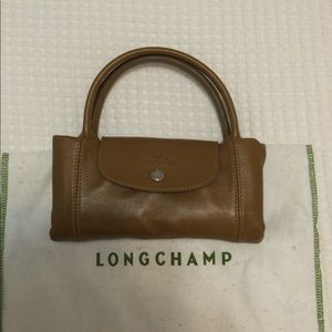 Leather crossbody tote